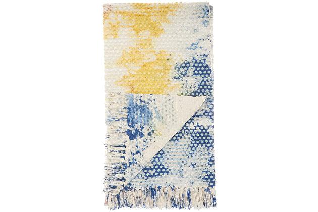 Nourison Mina Victory Life Styles Tie Dye Throw Blanket, , large