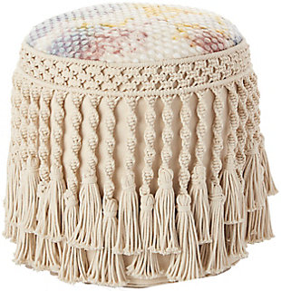 Nourison Mina Victory Life Styles Tie Dye Indoor Pouf, , large