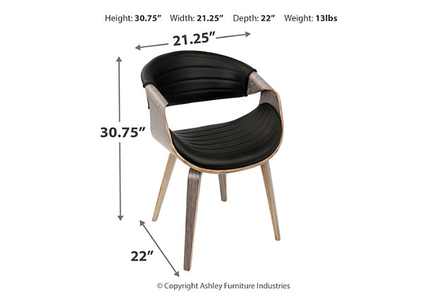 Symphony Dining Chair, Black, large