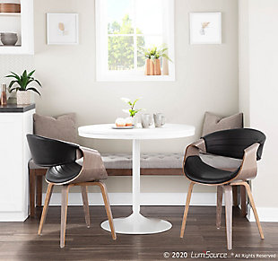 Symphony Dining Chair, Black/Gray, rollover