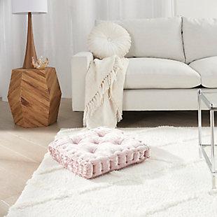 Nourison Mina Victory Life Styles Velvet Floor Pillow, Rose, rollover