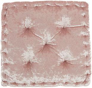 Nourison Mina Victory Life Styles Velvet Floor Pillow, Rose, large