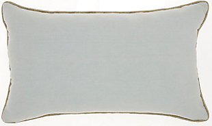 "Nourison Mina Victory Sofia Beaded Pleated Velvet 12"" x 20"" Throw Pillow, , large"
