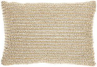 "Nourison Mina Victory Luminescence Beaded Horizontal Striped 10"" x 14"" Throw Pillow, , large"