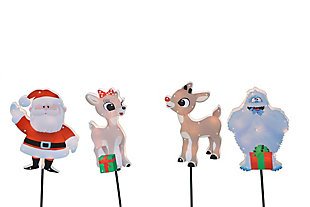Rudolph 26 Inch Rudolph, Santa, Clarice and Bumble Outdoor LED Pathway Markers, , large