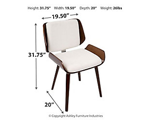 Santi Dining Chair (Set of 2), White, large