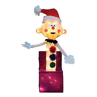 Rudolph 24 Inch Charlie in the Box Outdoor 3D LED Yard Decor, , large