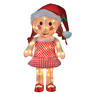 Rudolph 24 Inch Sally Doll Outdoor 3D LED Yard Decor, , large