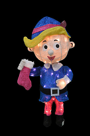 Rudolph 24 Inch Hermey the Dentist Outdoor 3D LED Yard Decor, , large