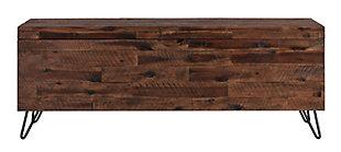 Crawford & Burke Acacia Wood Storage Bench, , large