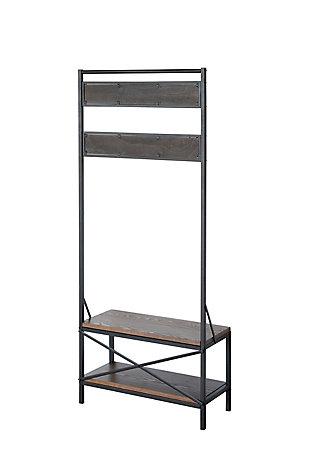 Crawford & Burke Coat Rack Bench, , large
