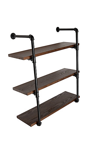 Crawford & Burke 3-Tier Piped Floating Wall Shelf, , large