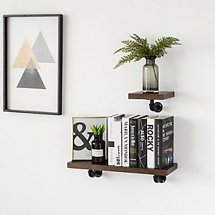 Crawford & Burke 2-Piece Piped Floating Wall Shelf Set, , rollover