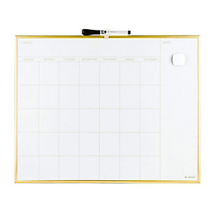 Magnetic Monthly Calendar Dry Erase Board with Gold Frame (20 x 16 Inches), , large