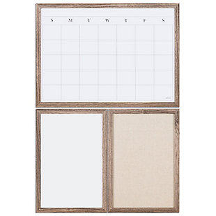 3 Board Wall Organization Center with Rustic Wood Frame, , large