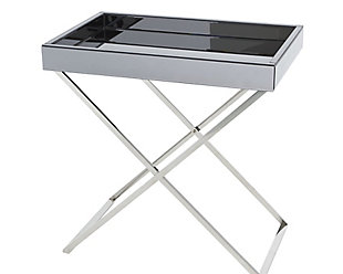 Global Views Mirror in Nickel Folding Tray Table, , large