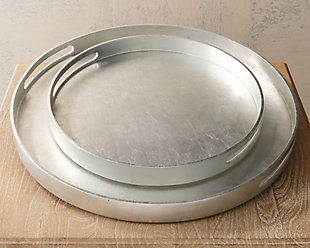 Global Views Luxe Large Silver Tray, , rollover