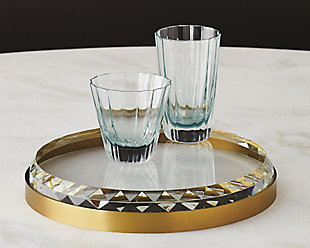 Global Views Brass Crystal Tray, , rollover