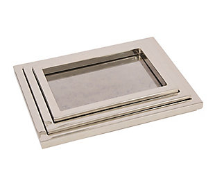 Global Views of 3 Stepped Nesting Nickel Trays, , large