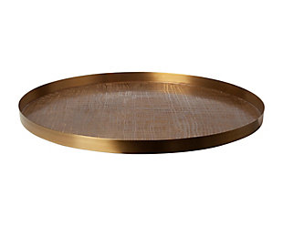 Global Views Brass Plaid Etched Tray, , large
