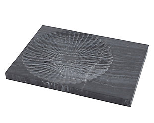 Global Views Thin Carved Marble Plateau, , large
