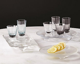 Global Views LiuLi Clear Round Glass Tray, , rollover