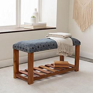 Surya Avigail Upholstered Bench, , rollover