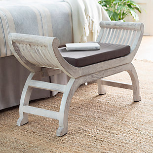 Surya Brittany Upholstered Bench, , rollover