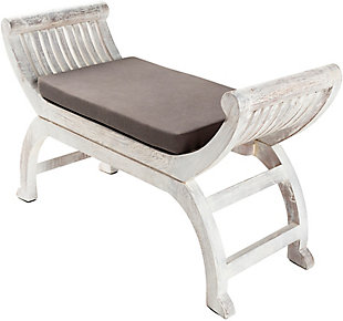 Surya Brittany Upholstered Bench, , large
