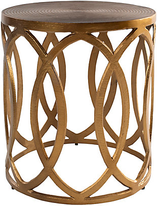 Surya Earnshaw End Table, Brass, large