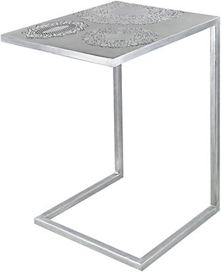 Surya Etched End Table, , large