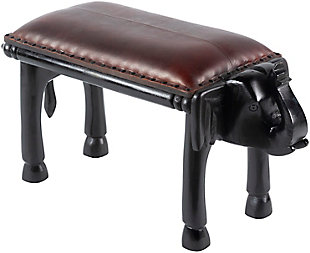 Surya Haathi Upholstered Bench, , rollover