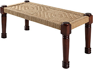 Surya Karis Upholstered Bench, , large