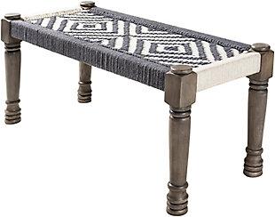 Surya Karis Upholstered Bench, , large