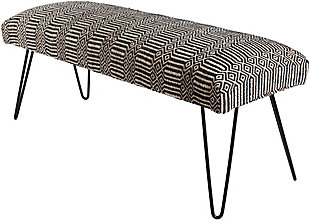 Surya Nakia Upholstered Bench, , large