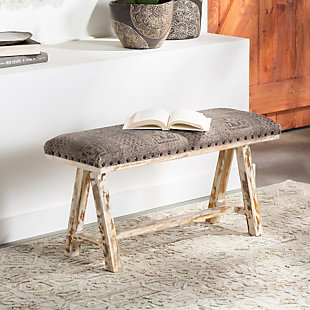 Surya Odalis Upholstered Bench, , rollover