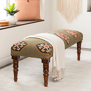Surya Panja Upholstered Bench, , rollover