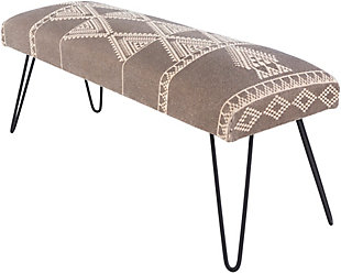 Surya Asmara Upholstered Bench, , large