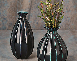 Global Views Cinched Ink Fat Vase, , rollover