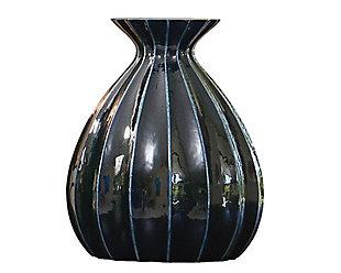 Global Views Cinched Ink Fat Vase, , large