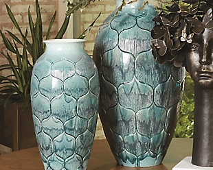Global Views Lo's Teal Small Vase, , rollover