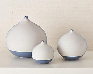 Global Views Blue Medium Ball Vase, , rollover