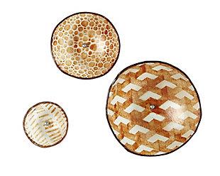 Global Views Amber Glass Wall Bowls (Set of 3), , large