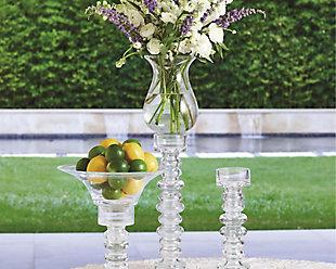 Global Views Ribbed Medium Candleholder/Vase, , rollover