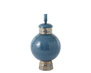 Global Views Blue Short Maze Jar, , large