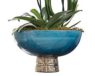 Global Views Blue Maze Compote, , large