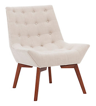Linon Ramsey Linen Tufted Accent Chair, , large