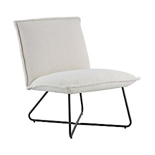 Linon Stiles Sherpa Chair, , large