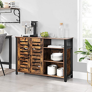 Vasagle Rustic Sideboard Cabinet with 2 Doors, , rollover