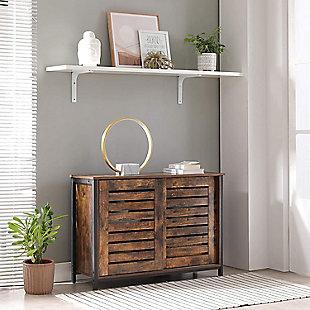 Vasagle Rustic Sideboard Cabinet with 2 Doors, , rollover